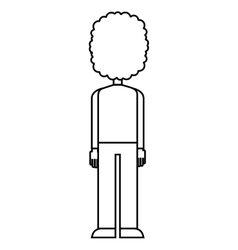 Young man isolated icon vector