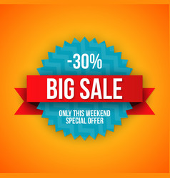 Big sale banner 30 off best offer vector