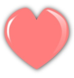 Mothers day heart vector