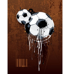 Liquid graffiti football vector