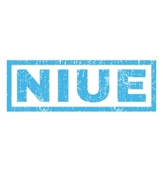 Niue rubber stamp vector