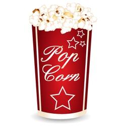 Popcorn cup vector image