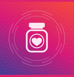 bottle of pills icon pictogram vector image