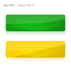 Button template web yellow and green vector