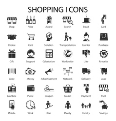 shopping and sales icons vector image