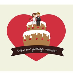 Wedding design over white background vector