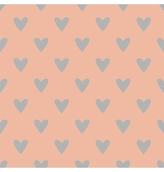 Tile pattern with grey hearts on pink background vector