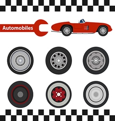 car wheel 02 01 vector image