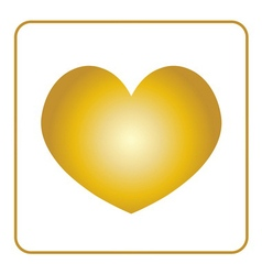 Golden heart icon vector
