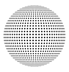 Dotted sphere ball design element vector