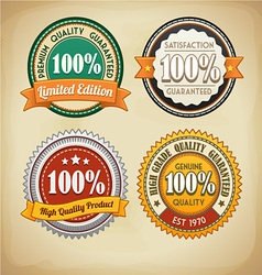 Retro badges set vector