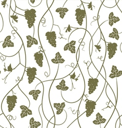 Seamless pattern wallpaper background with grapes vector