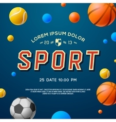 Team sport concept background soccer basketball vector