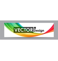 Multicolored banner with wavy elements vector