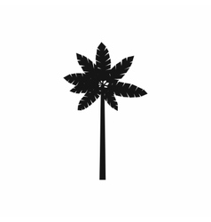 Palm woody plant icon simple style vector