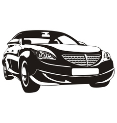 abstract car vector image