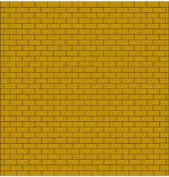 brick wall testure yellow color isolated vector image vector image