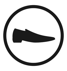 Classic man shoe silhouette vector