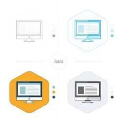 Computer icons 4 design vector image
