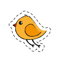 cute bird isolated icon vector image vector image