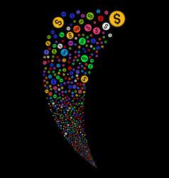 financial seal random stream vector image vector image