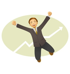 happy businessman vector image vector image