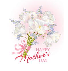 Mothers day card pink vector