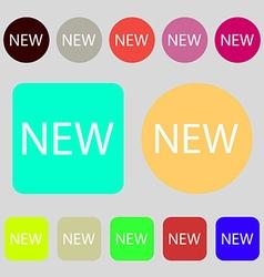 New sign icon arrival button symbol 12 colored vector