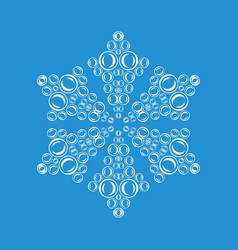 Ornamental snowflake icon simple style vector