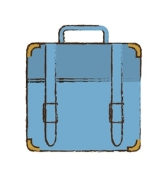 Portfolio suitcase travel business color sketch vector