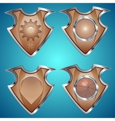 Set of shields vector image