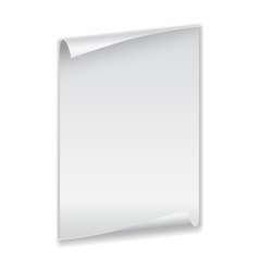 Sheet of paper with curled corners vector