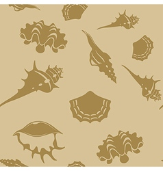Shell seamless patter 6 vector