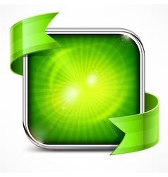 Square green icon vector image
