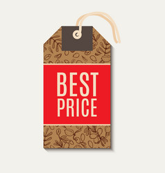Tags sale in eco-style vector