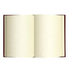vintage open book vector image vector image