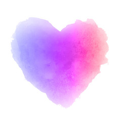 watercolor gradient textured isolated heart stain vector image vector image