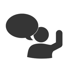 Communication person talking social icon vector