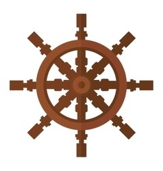 Yacht wheel icon isolated vector