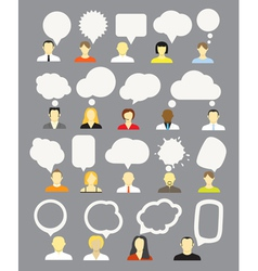 Different people with speech bubbles collection vector