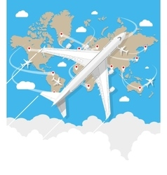 Flying a plane to travel destination vector