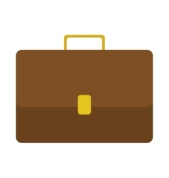 Silhouette closeup with executive briefcase vector