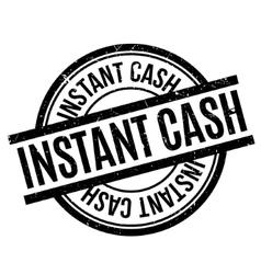 Instant cash rubber stamp vector