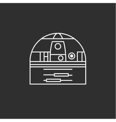 Toy robot icon vector