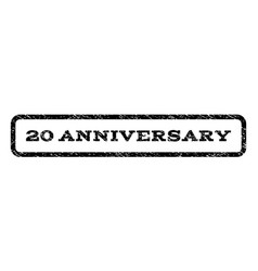 20 anniversary watermark stamp vector