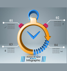 business infographics clock watch icon vector image