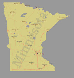minnesota state map with community assistance vector image