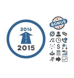 2016 Future Road Flat Icon With Bonus vector image vector image