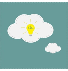 Yellow idea light bulb in speech and thought vector image