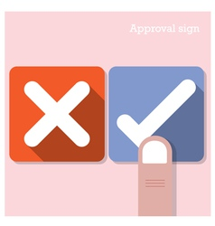 Approval concept vector